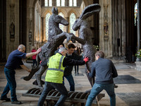 023 4thApril 2016 Sophie Ryder at Salisbury Cathedral - by Ash Mills