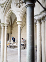 Stonemasons in the Cloisters