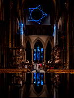 00217th November 2017  - Salisbury Cathedral - Star of Bethlehem by Jayson Haebich -  photo by Ash Mills
