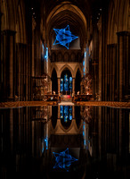 00517th November 2017  - Salisbury Cathedral - Star of Bethlehem by Jayson Haebich -  photo by Ash Mills